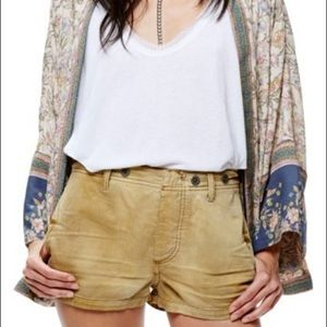 Free People Cargo Shorts in Taupe (More Mustard)